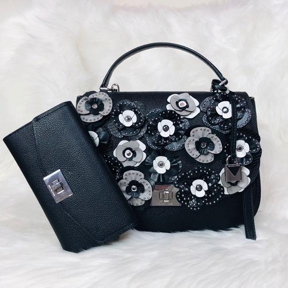 Michael Kors Handbags - 2PCS Michael Kors Cassie TH Floral Satchel Wallet